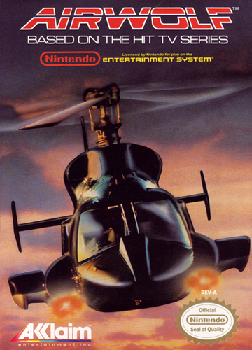 Airwolf Nintendo NES cover artwork