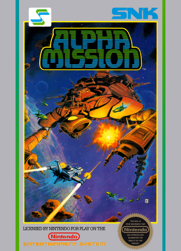 Alpha Mission Nintendo NES cover artwork