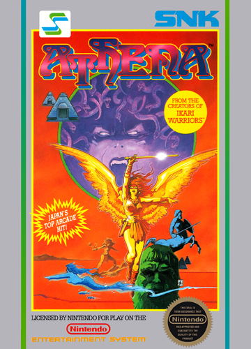 Athena Nintendo NES cover artwork