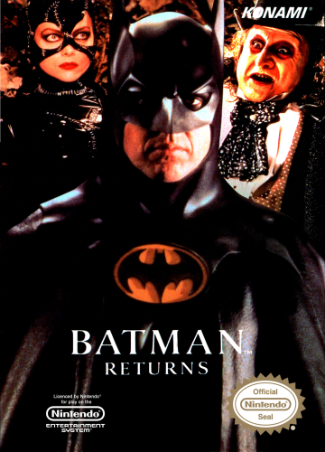 Batman Returns Nintendo NES cover artwork