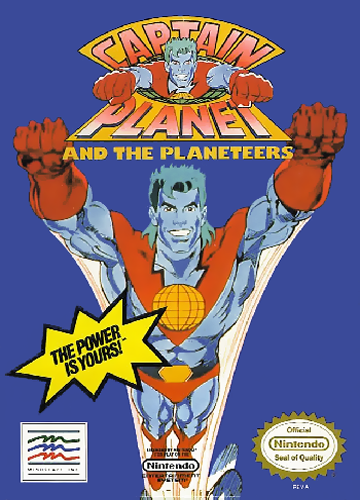 Captain Planet and the Planeteers Nintendo NES cover artwork