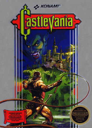 Castlevania Nintendo NES cover artwork