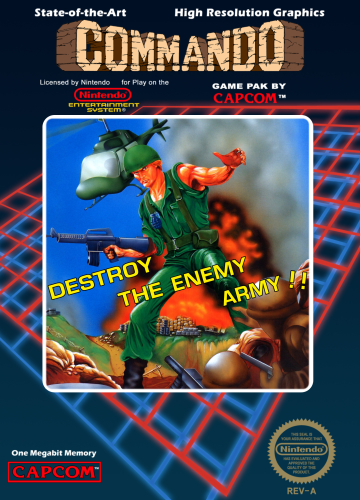Commando Nintendo NES cover artwork