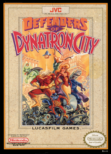 Defenders of Dynatron City Nintendo NES cover artwork