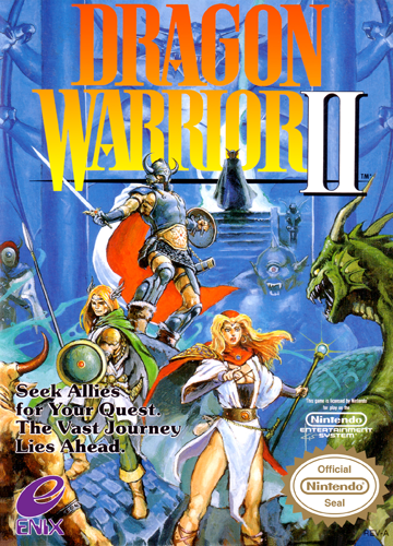 Dragon Warrior II Nintendo NES cover artwork