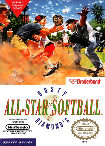 Dusty Diamond's All-Star Softball Nintendo NES cover artwork