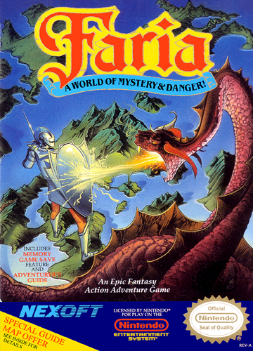 Faria - A World of Mystery & Danger! Nintendo NES cover artwork