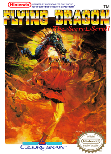 Flying Dragon - The Secret Scroll Nintendo NES cover artwork