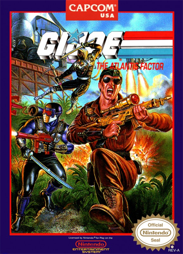 G.I. Joe - The Atlantis Factor Nintendo NES cover artwork