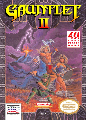 Gauntlet II Nintendo NES cover artwork