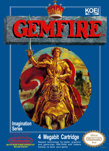 Gemfire Nintendo NES cover artwork
