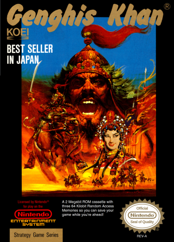 Genghis Khan Nintendo NES cover artwork