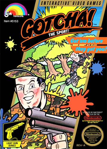 Gotcha! - The Sport! Nintendo NES cover artwork