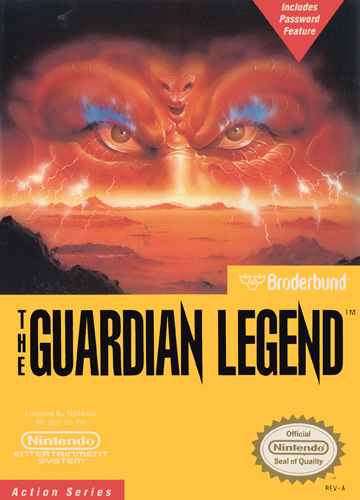 Guardian Legend, The Nintendo NES cover artwork