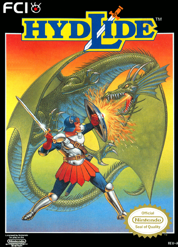 Hydlide Nintendo NES cover artwork