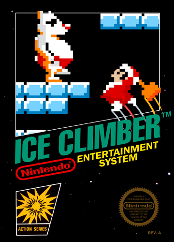 Ice Climber Nintendo NES cover artwork