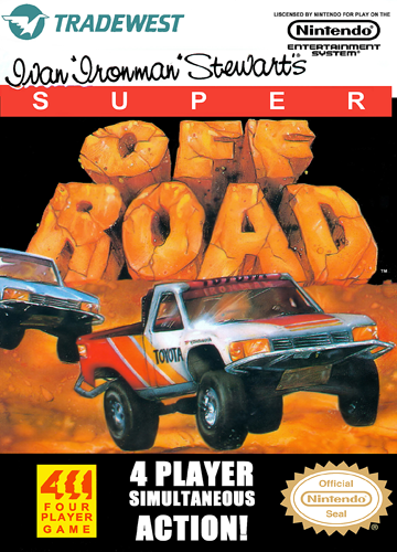 Ivan 'Ironman' Stewart's Super Off Road Nintendo NES cover artwork