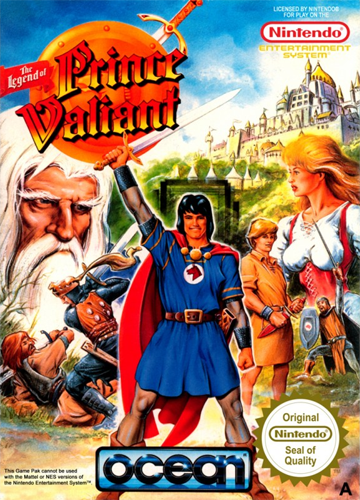 Legend of Prince Valiant, The Nintendo NES cover artwork