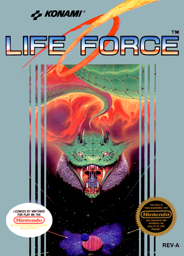 Life Force Nintendo NES cover artwork