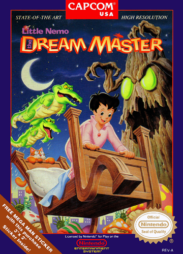 Little Nemo - The Dream Master Nintendo NES cover artwork