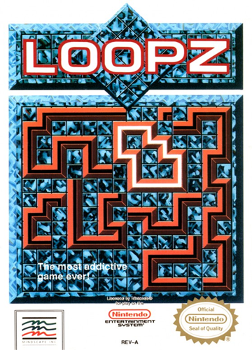 Loopz Nintendo NES cover artwork