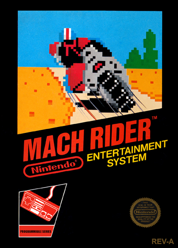 Mach Rider Nintendo NES cover artwork