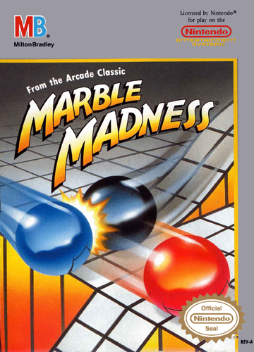 Marble Madness Nintendo NES cover artwork