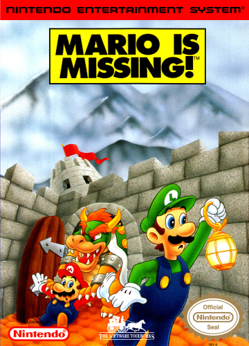 Mario Is Missing! Nintendo NES cover artwork