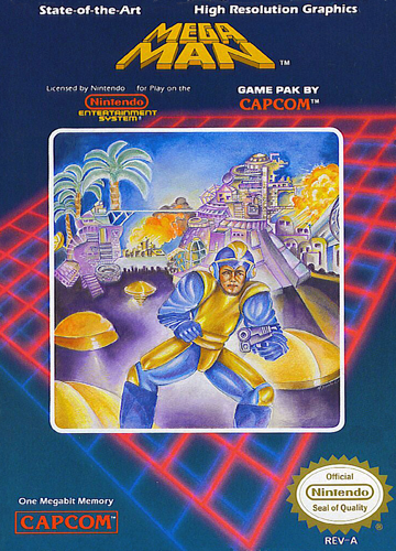 Mega Man Nintendo NES cover artwork