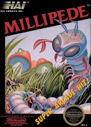 Millipede Nintendo NES cover artwork