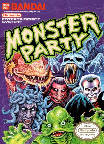Monster Party Nintendo NES cover artwork