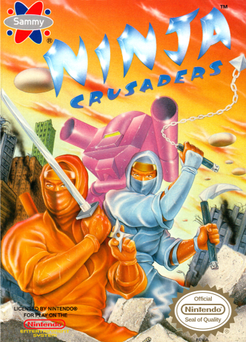Ninja Crusaders Nintendo NES cover artwork