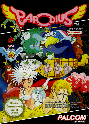 Parodius Nintendo NES cover artwork