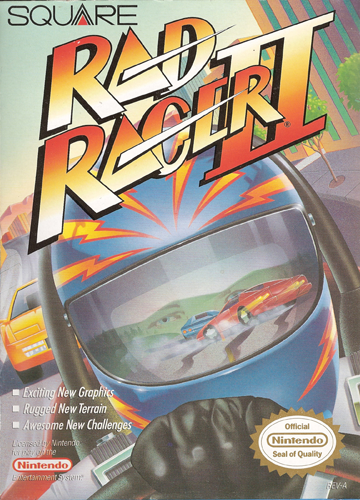 Rad Racer II Nintendo NES cover artwork