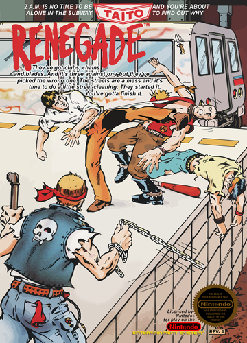 Renegade Nintendo NES cover artwork