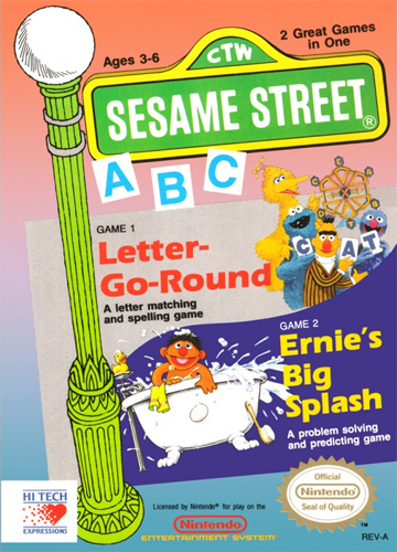 Sesame Street ABC Nintendo NES cover artwork