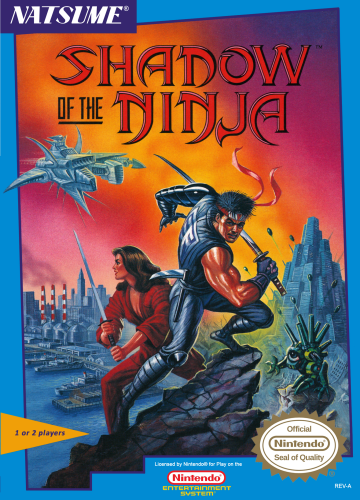 Shadow of the Ninja - Blue Shadow Nintendo NES cover artwork