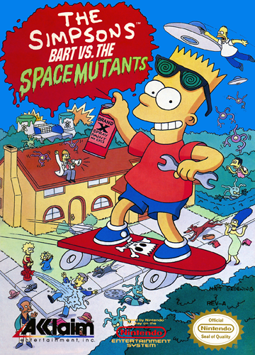 Simpsons, The - Bart vs. the Space Mutants Nintendo NES cover artwork