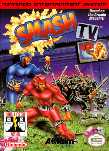 Smash T.V. Nintendo NES cover artwork