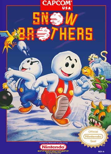 Snow Brothers Nintendo NES cover artwork