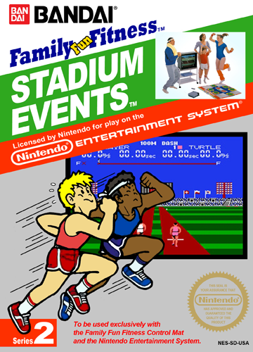 Stadium Events Nintendo NES cover artwork