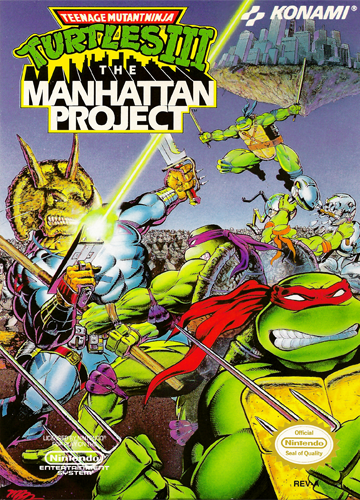Teenage Mutant Ninja Turtles III - The Manhattan Project Nintendo NES cover artwork