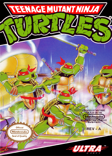 Teenage Mutant Ninja Turtles Nintendo NES cover artwork
