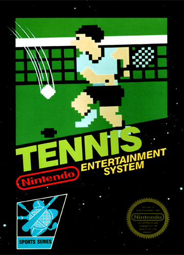 Tennis Nintendo NES cover artwork