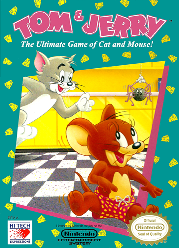 Tom & Jerry - The Ultimate Game of Cat and Mouse! Nintendo NES cover artwork