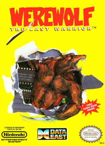 Werewolf - The Last Warrior Nintendo NES cover artwork