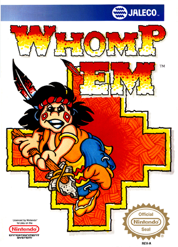 Whomp 'Em Nintendo NES cover artwork