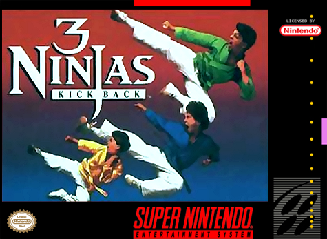 3 Ninjas Kick Back Nintendo Super NES cover artwork
