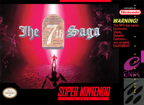 7th Saga, The Nintendo Super NES cover artwork