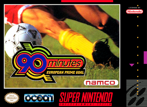 90 Minutes - European Prime Goal Nintendo Super NES cover artwork